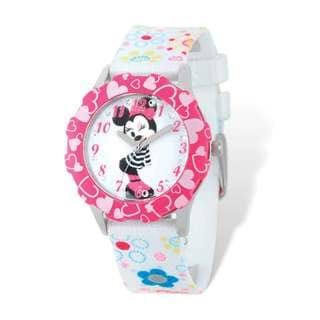 Disney Kids Minnie Mouse Floral Band Tween Watch