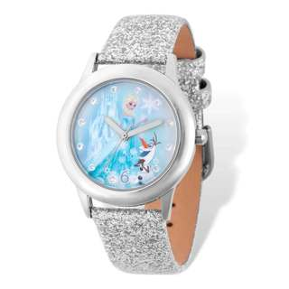 Disney Silver-tone Frozen Elsa/Olaf Tween Watch