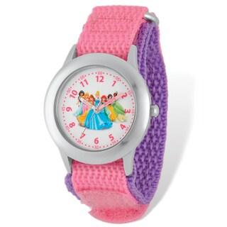 Disney Princess Pink Hook and Loop Band Time Teacher Watch
