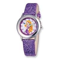 Disney Princess Rapunzel Glitz Purple Band Tween Watch