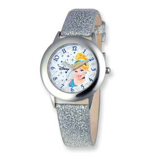 Disney Princess Cinderella Glitz Silver Band Tween Watch