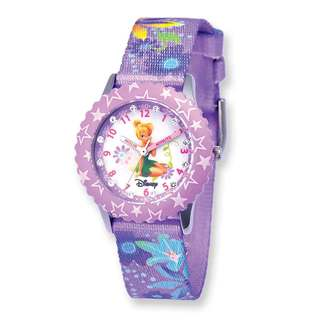 Disney Kids Tinker Bell Glitz Printed Band Time Teacher Watch
