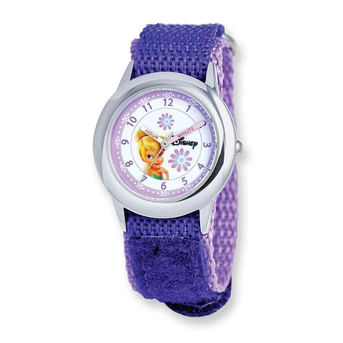 Disney Kids Tinker Bell Purple Hook and Loop Band Time Te...