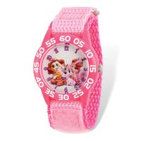 Disney Kids Palace Pets Pink Hook and Loop Band Time Teacher Watch