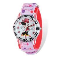 Disney Kids Minnie Mouse Pink Dot Acrylic Time Teacher Watch