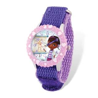 Disney Doc McStuffins Purple Nylon Time Teacher Watch