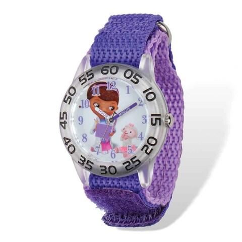 Disney Doc McStuffins Acrylic Purple Nylon Time Teacher Watch