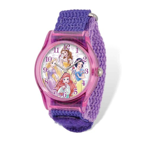 Disney Princesses Acrylic Purple Nylon Tween Watch