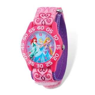 Disney Princesses Acrylic Pink Nylon Time Teacher Watch