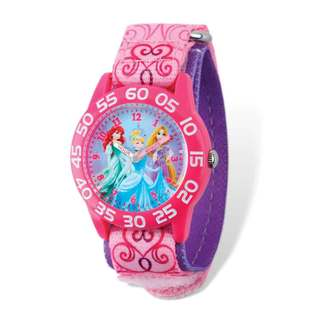 Disney Princesses Acrylic Pink Nylon Time Teacher Watch