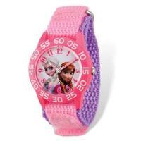 Disney Frozen Acrylic Case Elsa & Anna Pink Time Teacher Watch