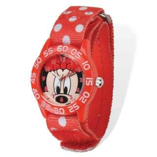 Disney Minnie Acrylic Case Red Hook and Loop Time Teacher Watch
