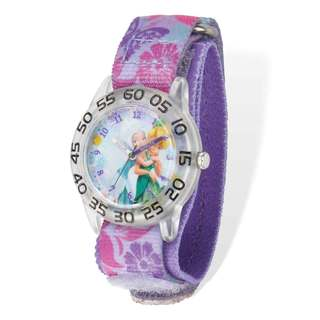 Disney Tinker Bell Acrylic Case Purple Hook and Loop Time Teacher Watch