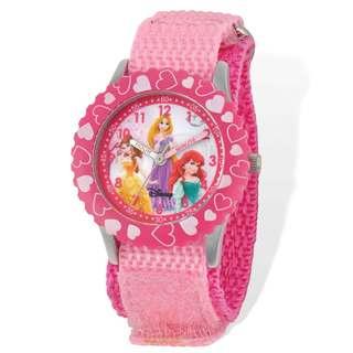 Disney Princess Pink Hook and Loop Time Teacher Watch