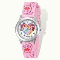 Disney Princess Printed Pink Fabric Time Teacher Watch