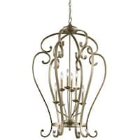 Kichler Lighting Monroe Collection 8-light Sterling Gold Foyer Chandelier