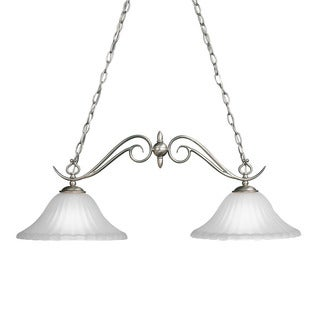 Kichler Lighting Willowmore Collection 2-light Brushed Nickel Island Chandelier