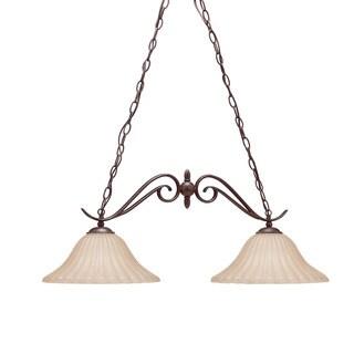Kichler Lighting Willowmore Collection 2-light Tannery Bronze Island Chandelier
