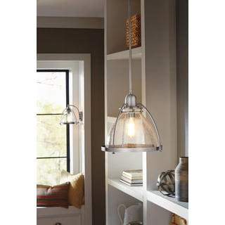 kichler lighting silberne collection 1light classic pewter pendant