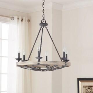 Kichler Lighting Taulbee Collection 6-light Weathered Zinc Chandelier