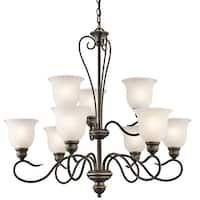Kichler Lighting Tanglewood Collection 9-light Olde Bronze Chandelier
