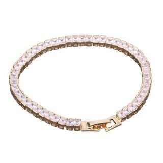 7.5 Inch Square CZ Inlay Tennis Bracelet