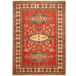 Herat Oriental Afghan Hand-knotted Tribal Vegetable Dye Kazak Wool Rug (4' x 6')