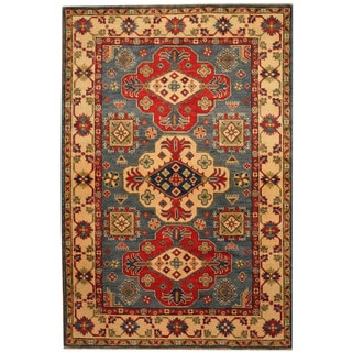 Herat Oriental Afghan Hand-knotted Tribal Vegetable Dye Kazak Wool Rug (3'10 x 5'9)