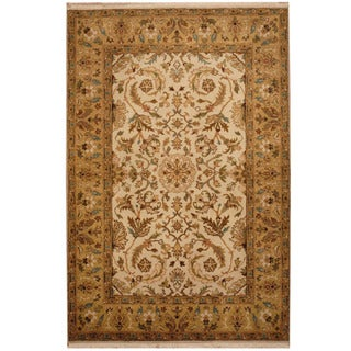 Herat Oriental Indo Hand-knotted Vegetable Dye Oushak Wool Rug (3'10 x 6')
