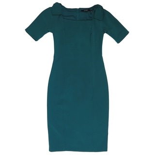Badgley Mischka Teal Green Dress