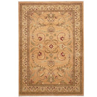 Herat Oriental Afghan Hand-knotted Vegetable Dye Oushak Wool Rug (4'8 x 5'10)