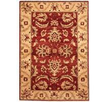 Herat Oriental Afghan Hand-knotted Vegetable Dye Tribal Oushak Wool Rug (3'10 x 5'6)