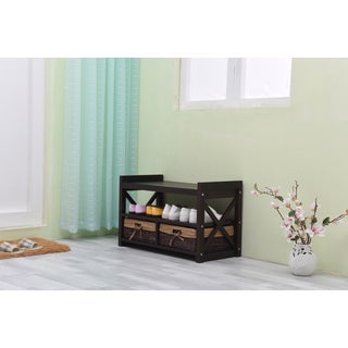 Harmony Solid Wood Entryway Storage Bench
