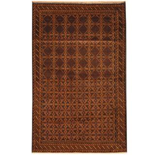 Herat Oriental Afghan Hand-knotted Tribal Balouchi Wool Rug (3'7 x 6')