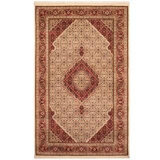 Herat Oriental Indo Hand-knotted Tabriz Wool & Silk Rug (4'2 x 6'7)