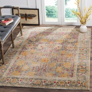 Safavieh Granada Vintage Bohemian Light Grey/ Multi Distressed Rug (6' 7 x 9')