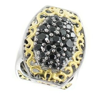 One-of-a-kind Michael Valitutti Palladium Silver Black Spinel Cluster Ring