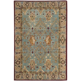 Safavieh Handmade Anatolia Oriental Blue/ Ivory Hand-spun Wool Rug (8' x 10')
