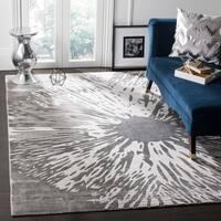 Safavieh Expression Contemporary Handmade Dark Grey Wool Rug - 8' x 10'