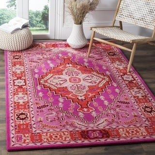 Safavieh Bellagio Handmade Bohemian Red/ Pink Wool Rug (2' 6 x 4')