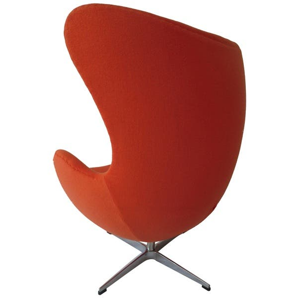 De Egg Chair.Shop Mlf Mid Century Orange Cashmere Wool Egg Chair Free