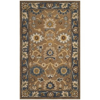 Safavieh Hand-Woven Heritage Camel/ Blue Wool Rug (2' x 3')