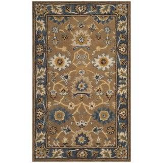 Safavieh Hand-Woven Heritage Camel/ Blue Wool Rug (2' x 3')