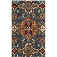 Safavieh Hand-Woven Heritage Camel/ Blue Wool Rug - 2' x 3'