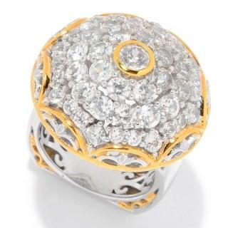 One-of-a-kind Michael Valitutti Palladium Silver Brilliant White Zircon Ring