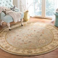 Safavieh Antiquity Traditional Handmade Light Grey/ Beige Wool Rug - 6' Round
