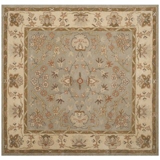 Safavieh Antiquity Traditional Handmade Light Grey/ Beige Wool Rug (6' Square)