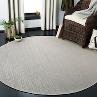 Safavieh Courtyard Tonal Light Grey Indoor/ Outdoor Rug - 7' Round
