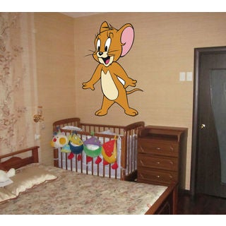 Tom & Jerry Full Color Decal, Full color sticker, colored Tom & Jerry Sticker Decal size 48x76