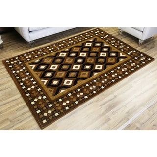 Empire Shonil Dark Brown/Light Brown Transitional Rug (7'10 x 10'2)